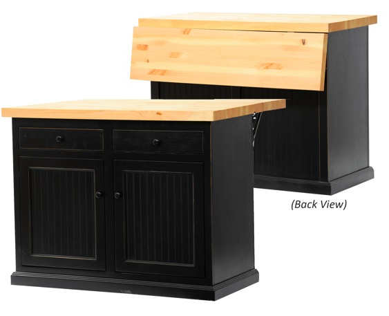 Poplar Kitchen Island With Choice Of Flip Up Top Howard Hill Furniture
