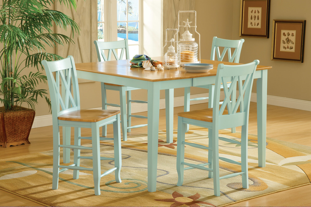 Double X Back Stool High Dining Set Howard Hill Furniture