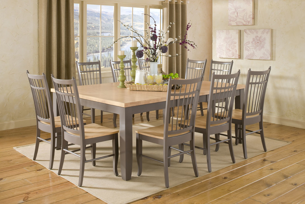 Thick Top 10 Seat Dining Set Howard Hill Furniture