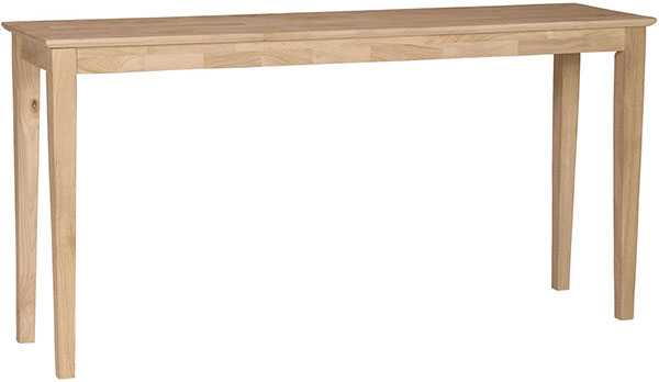 60 inch Shaker Sofa Table | Howard Hill Furniture