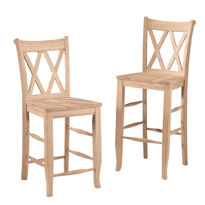 Double X Back Bar Stool Howard Hill Furniture