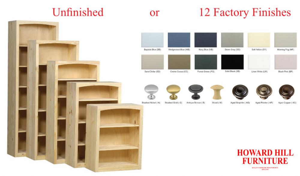 Pine 30 Inch Wide Bookcases | Howard Hill Furniture