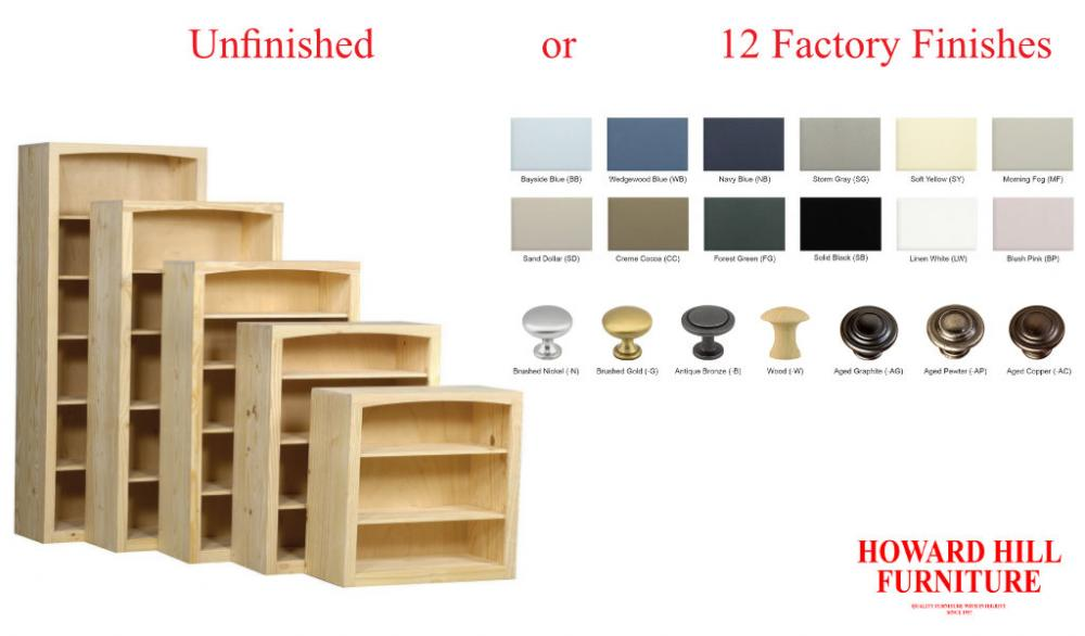 Pine 36 Inch Wide Bookcases | Howard Hill Furniture
