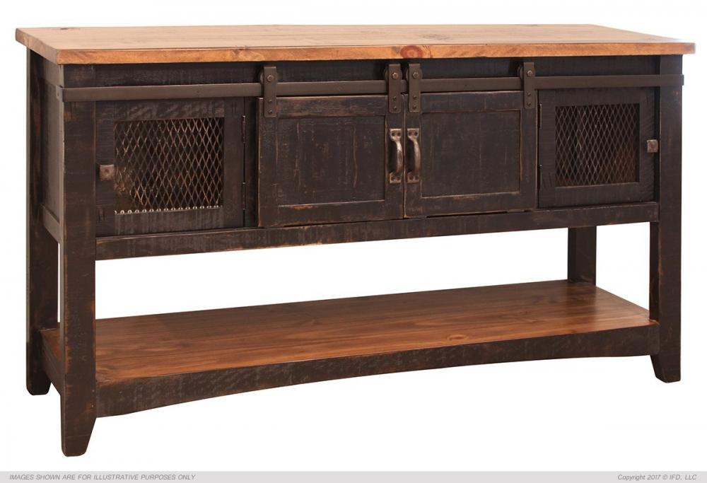 Pueblo Black Sofa Table Howard Hill Furniture