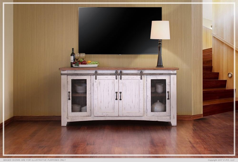 Pueblo White Tv Stands Howard Hill Furniture