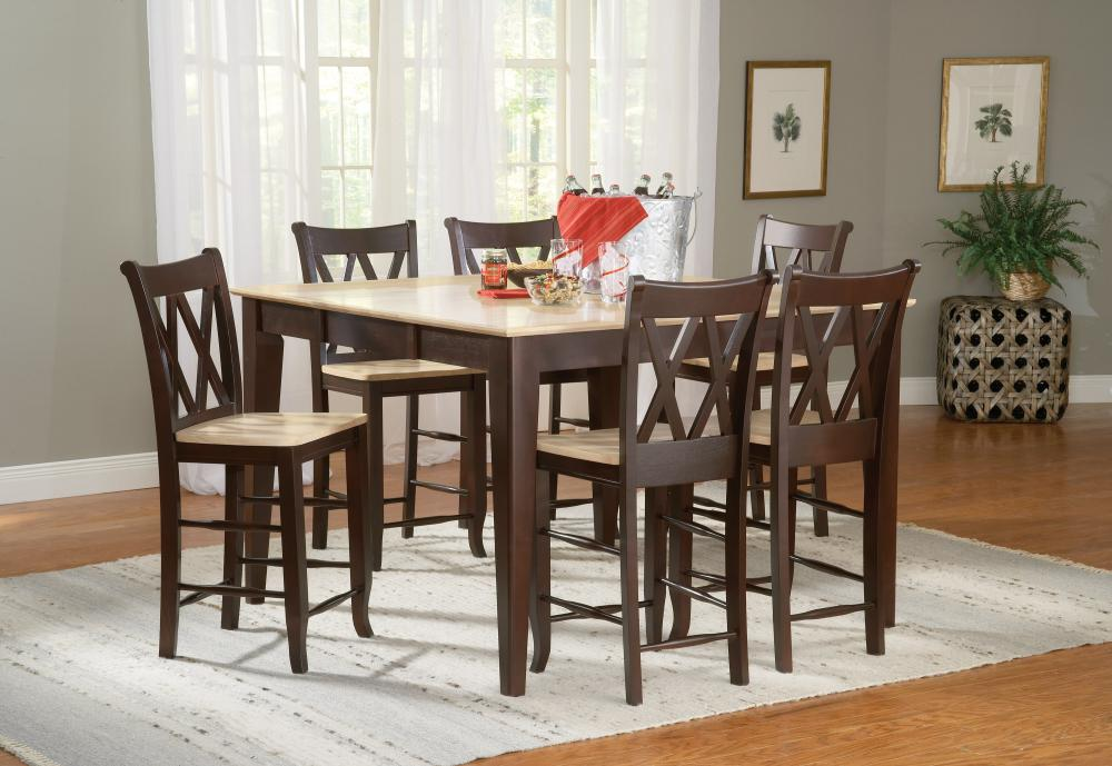 Gathering Height Table With Double X Back Stools Howard