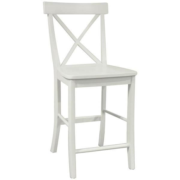 Simply Linen X Back Counter Stool Howard Hill Furniture