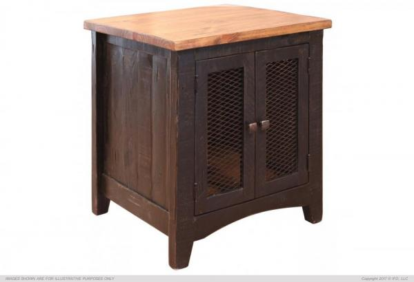 Pueblo Black End Table Howard Hill Furniture