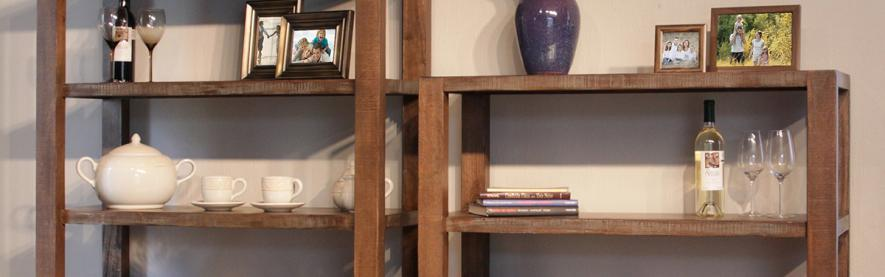 Single Bookcases Solid Wood